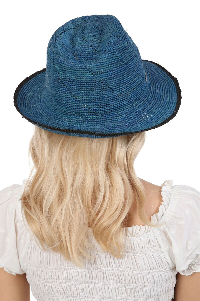 Мягкая плетеная шляпа трилби из натуральной соломы