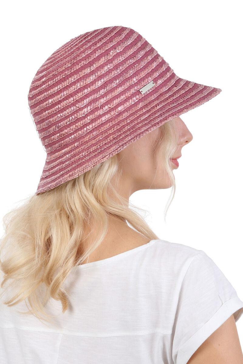 Шляпка с маленькими полями лиловая