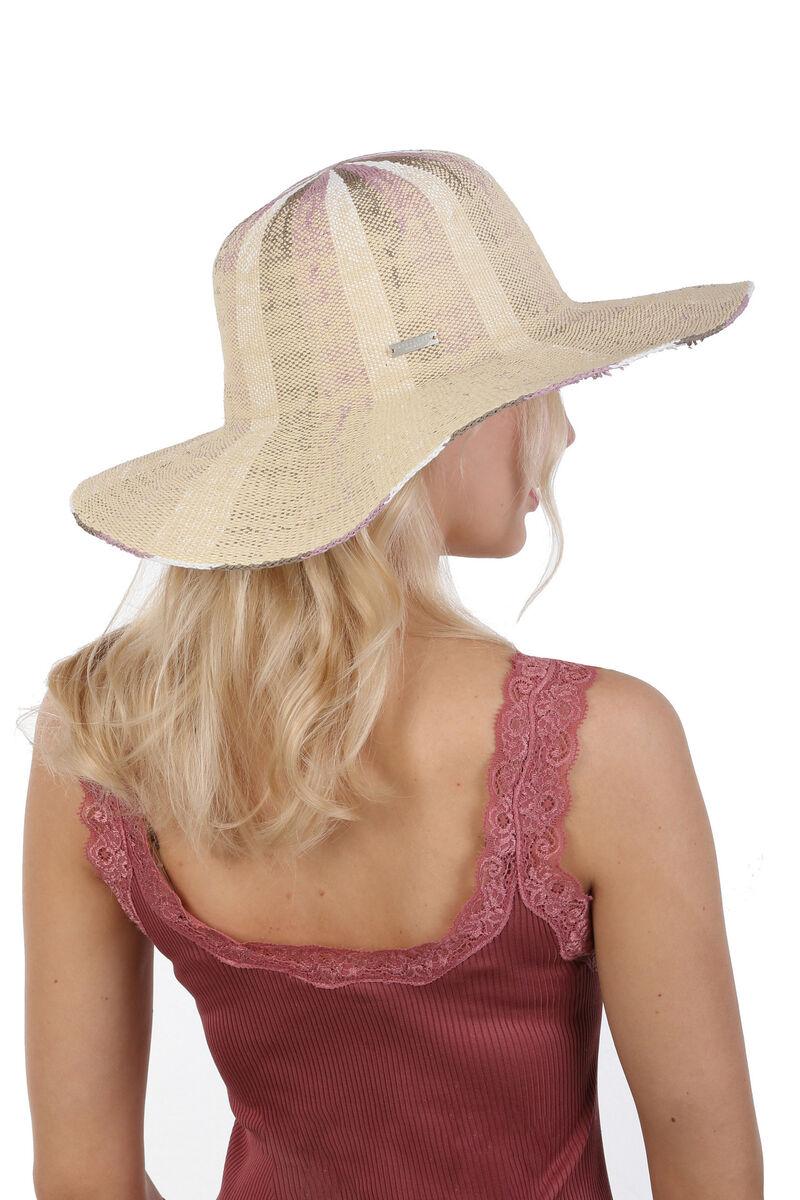 Шляпа с большими полями бежевая