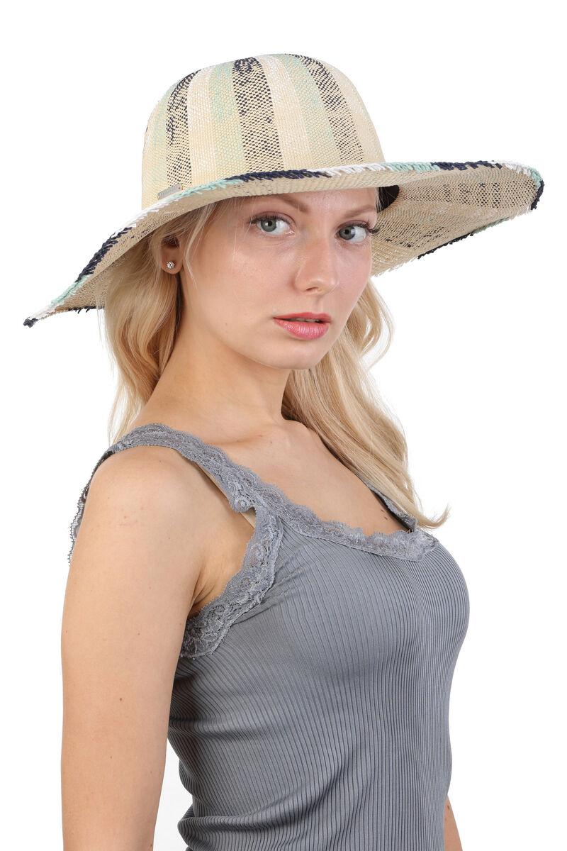Шляпа широкополая бежевая