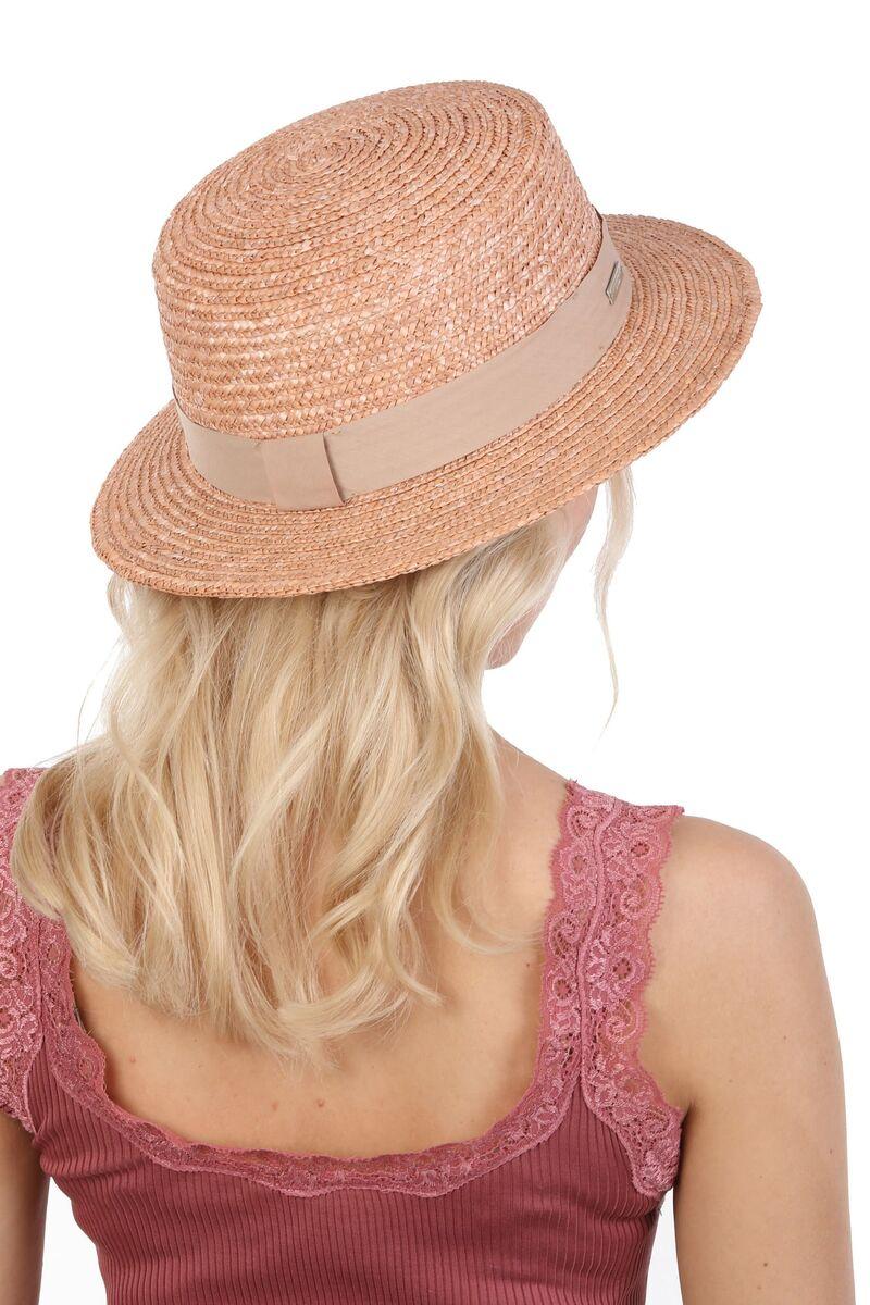 Шляпа канотье соломенная коричневая