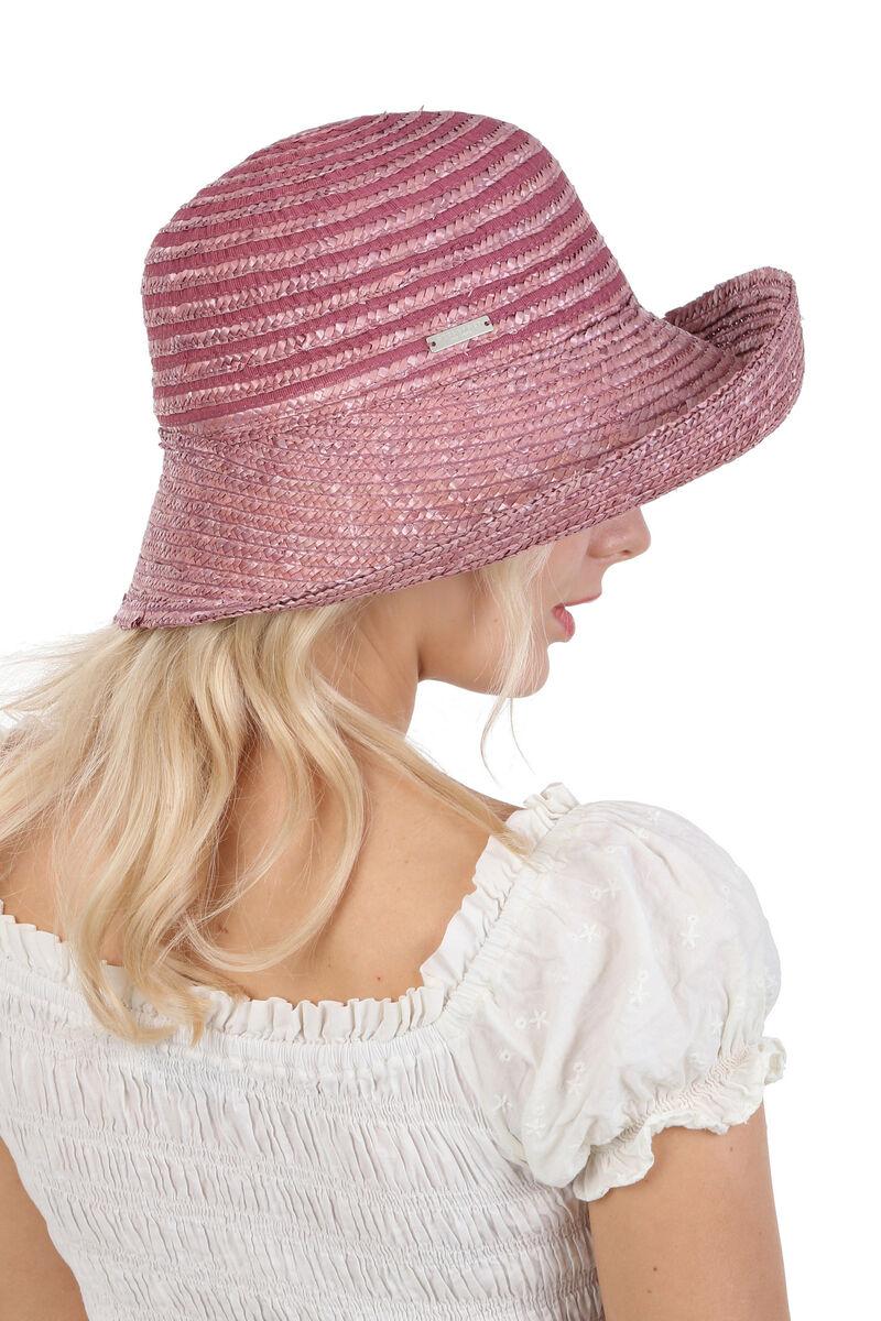 Шляпа с поднятыми впереди полями лиловая