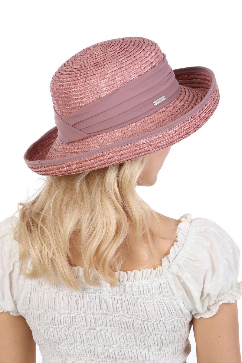 Шляпа с поднятыми полями лиловая