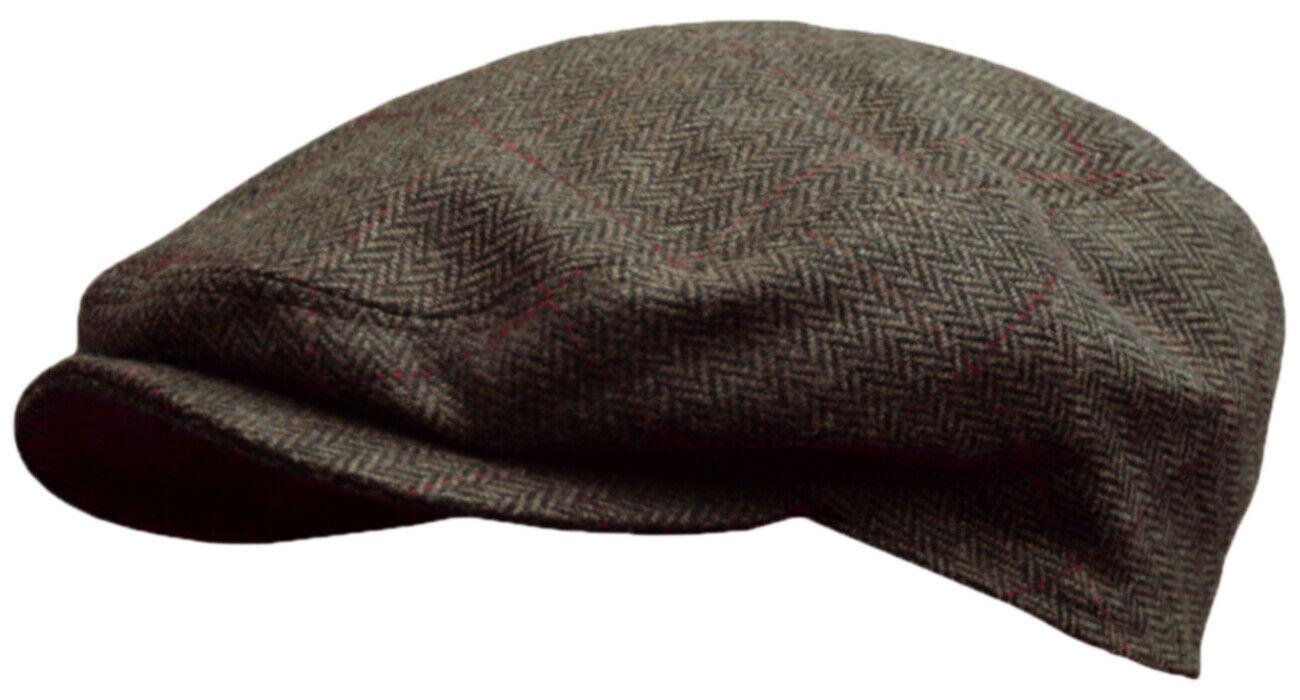 Кепка мужская реглан коричневая из шерсти