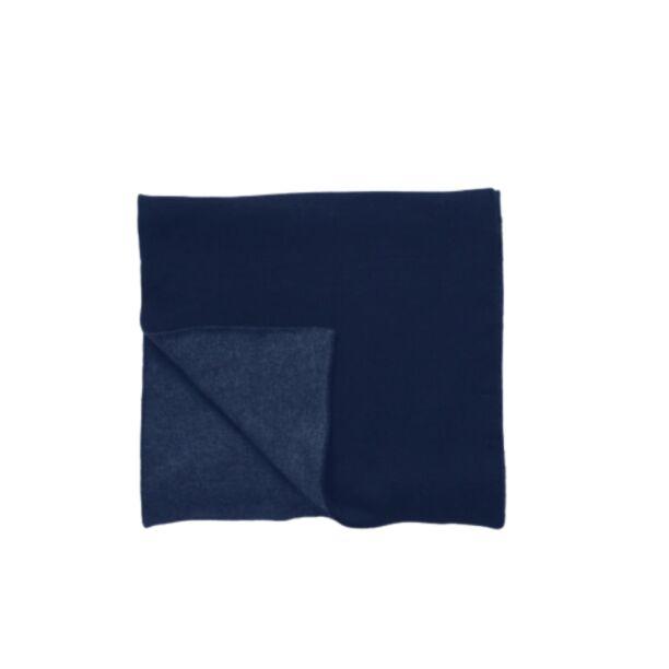 Шарф синий двусторонний шерстяной