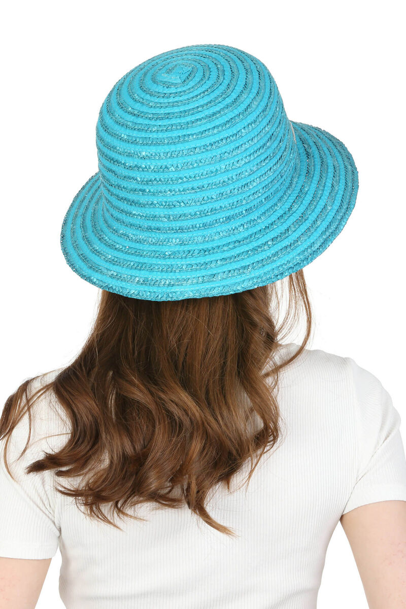 Шляпа соломенная бирюзовая