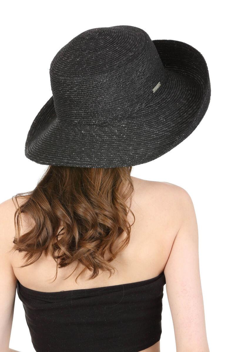 Шляпа чёрная соломенная