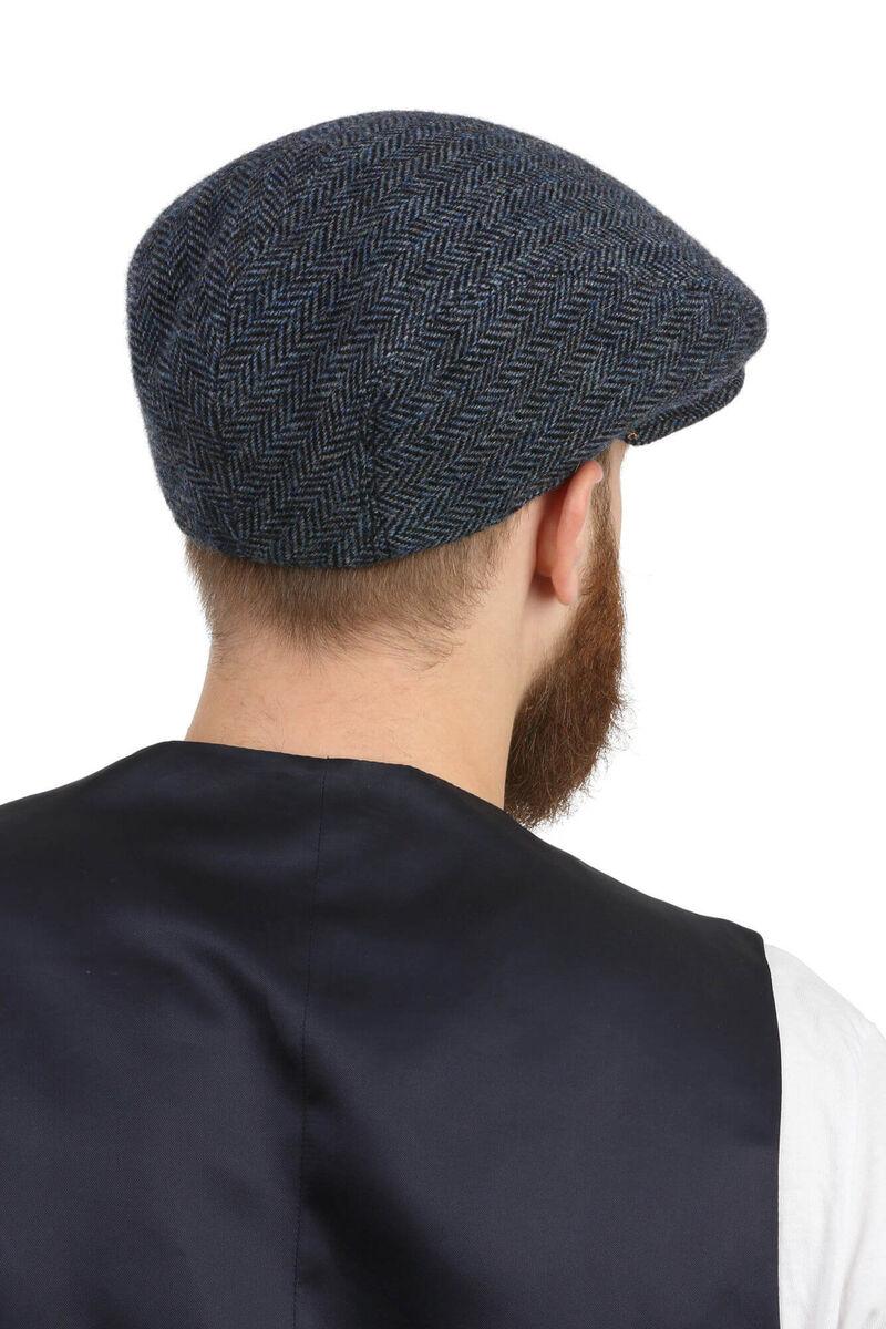 Кепка классическая синяя из шерсти