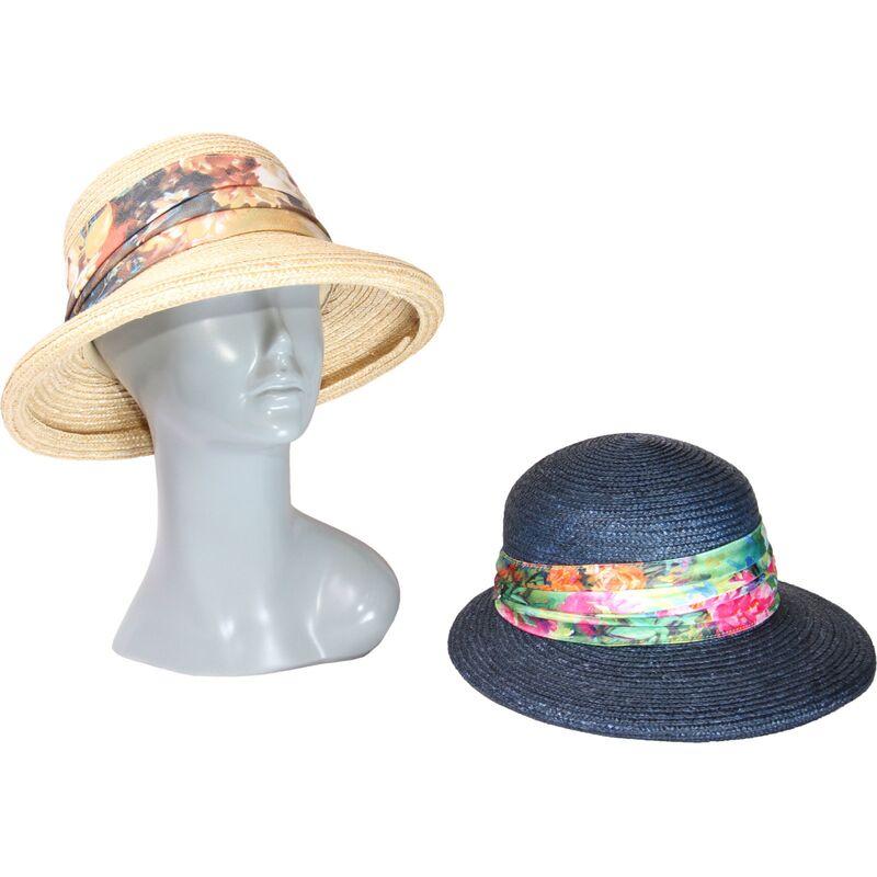 Шляпа из натуральной соломы с яркой лентойфото