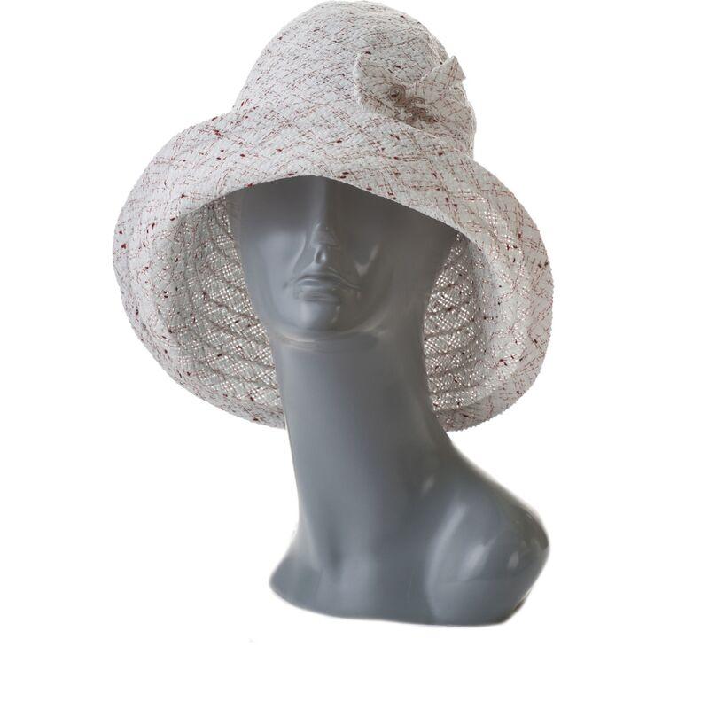Шляпа летняя женская тканевая с большими полямифото