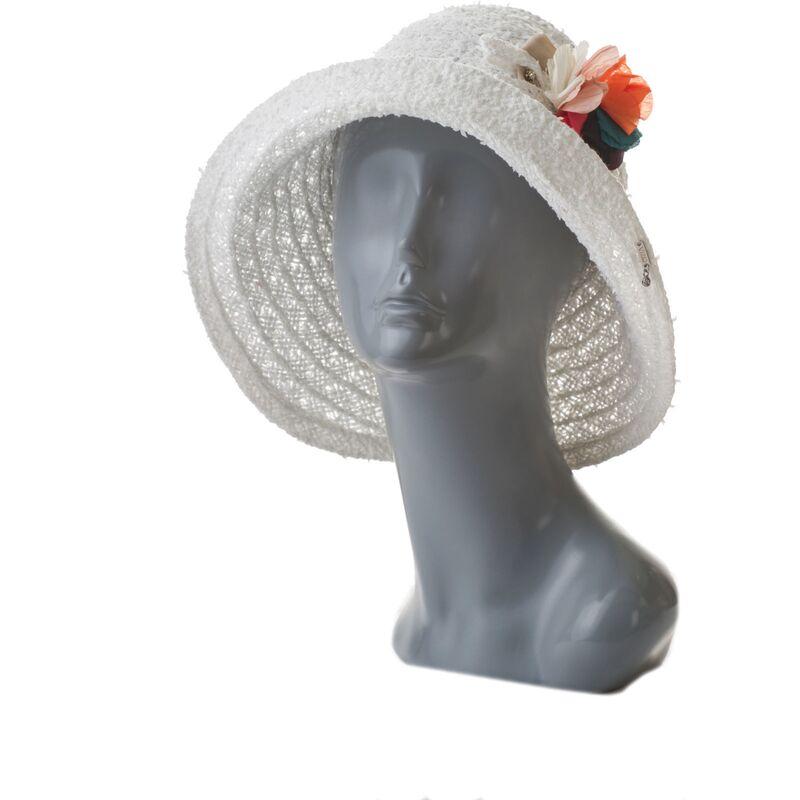 Шляпа летняя белая с цветамиизображение