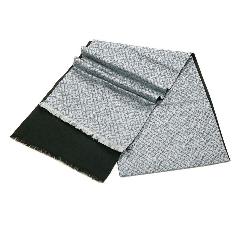 Шарф мужской шелковый серыйизображение