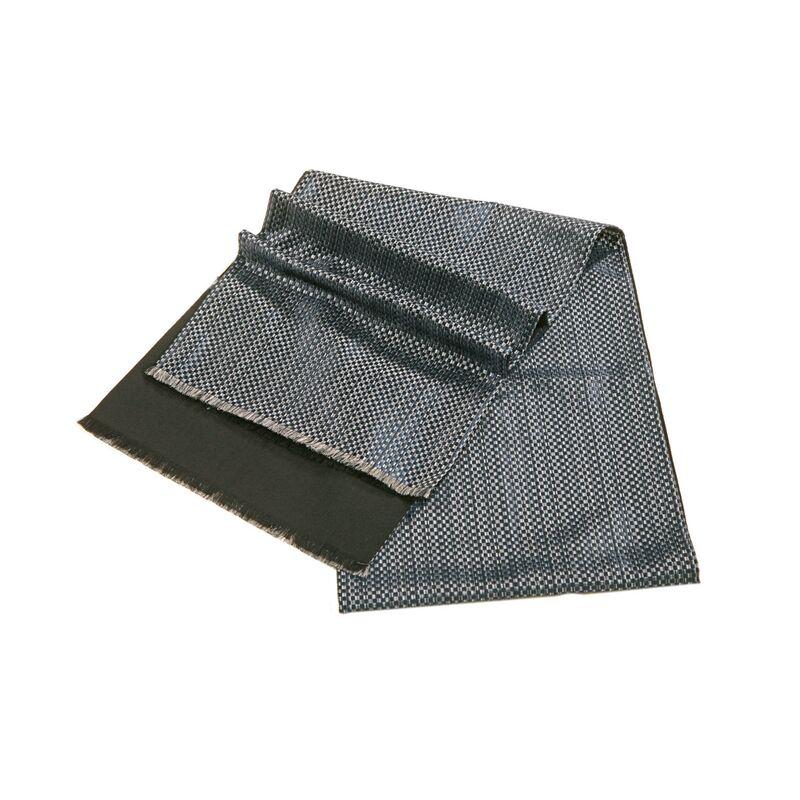 Шарф мужской шелковый синийизображение