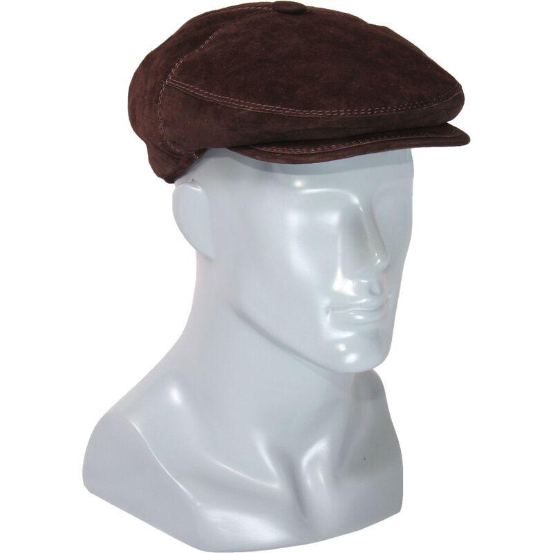 Кепка замшевая коричневая мужскаяизображение