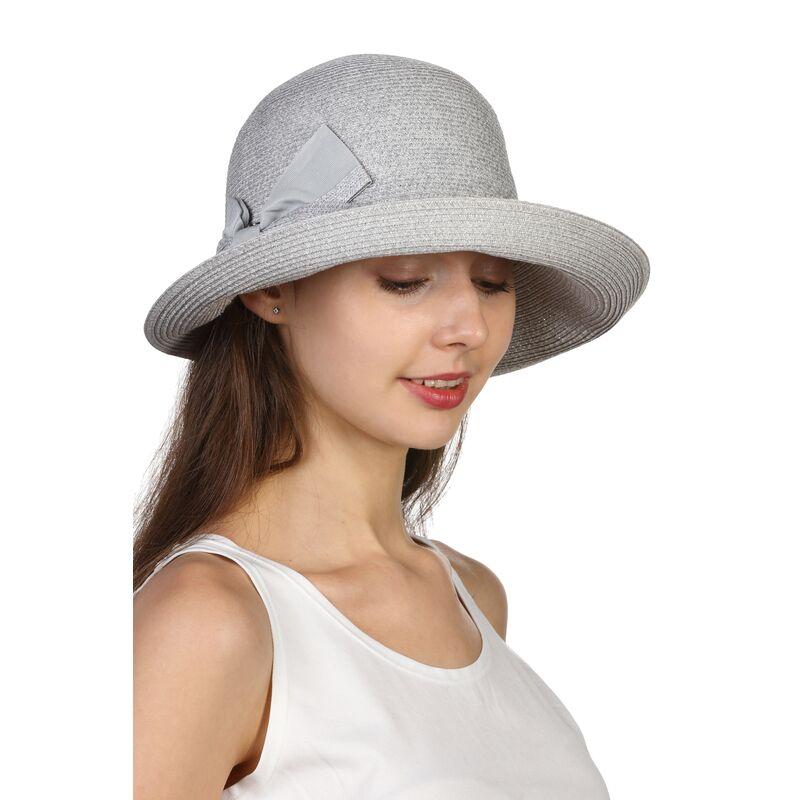 Шляпа мягкая с бантом сераяфото