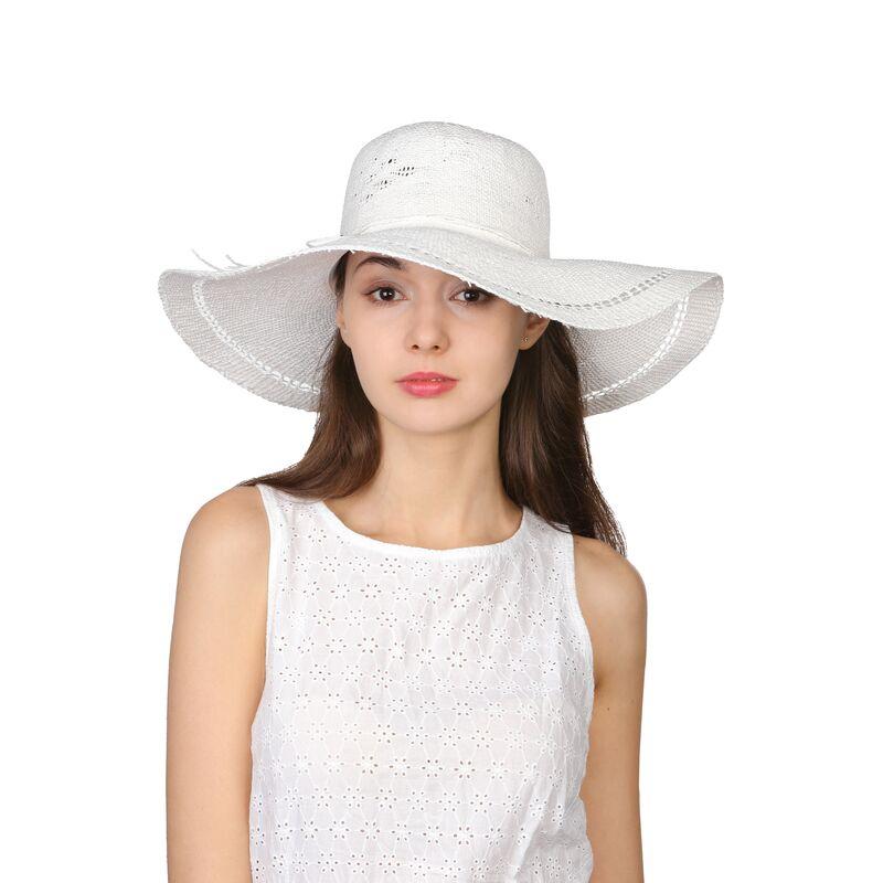 Шляпа белая с широкими полямифото