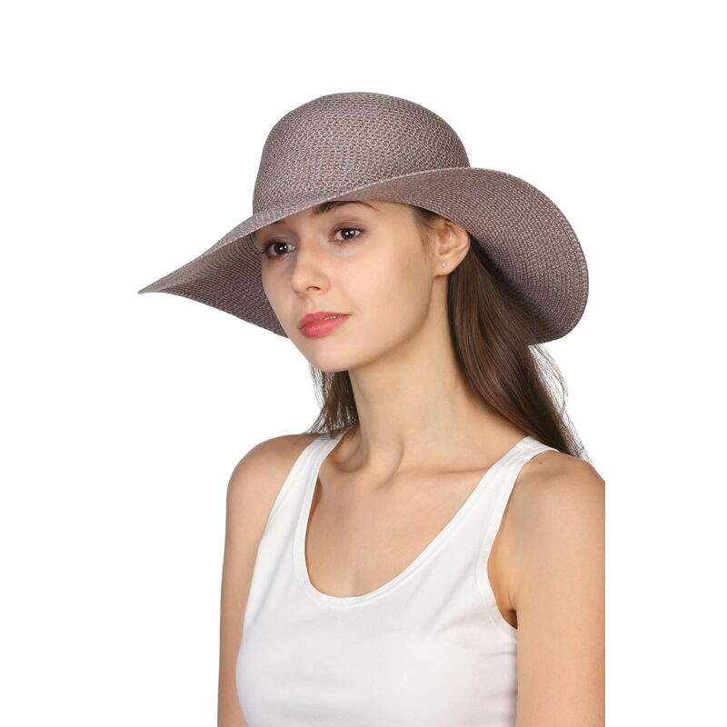 Шляпа женская серая с розовымфото