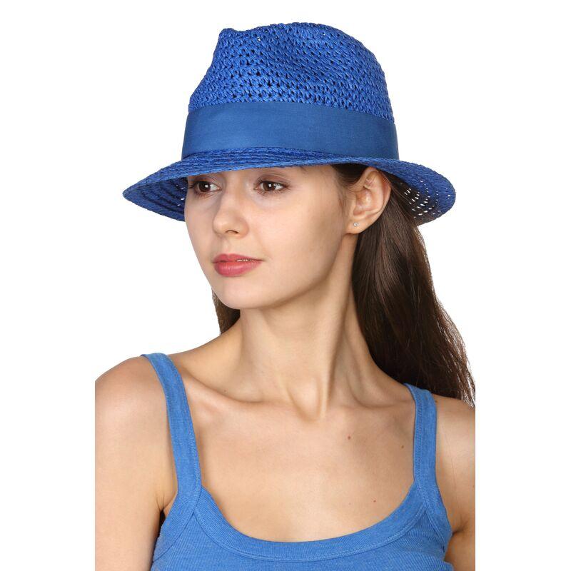Шляпа трилби синяяизображение