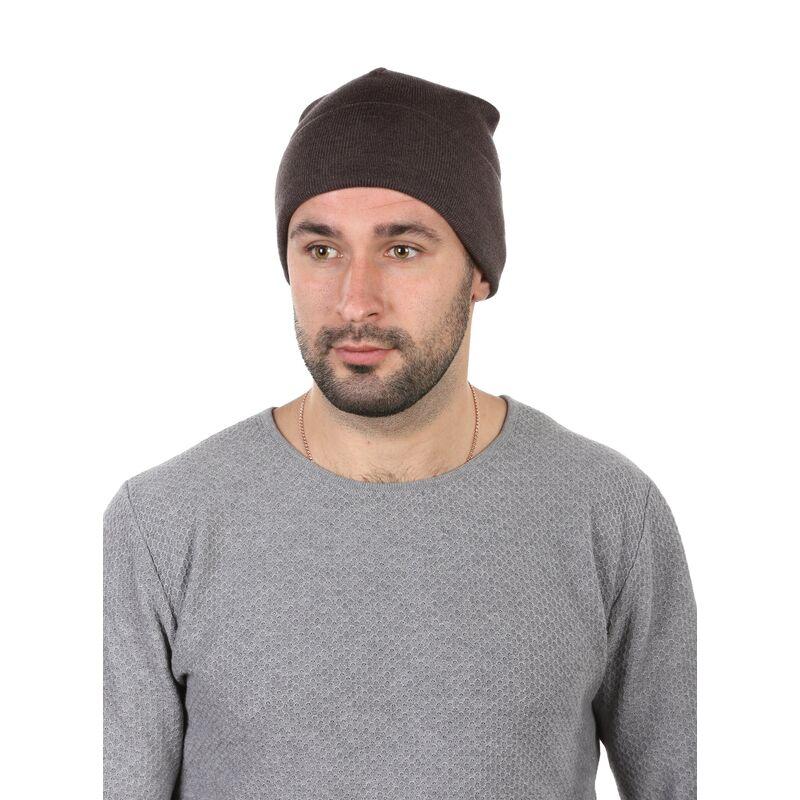 Шапка мужская демисезонная коричневаяизображение