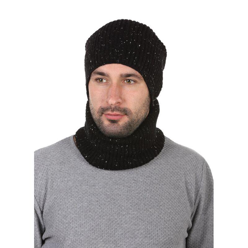 Комплект трикотажный шапка + баф черныйизображение