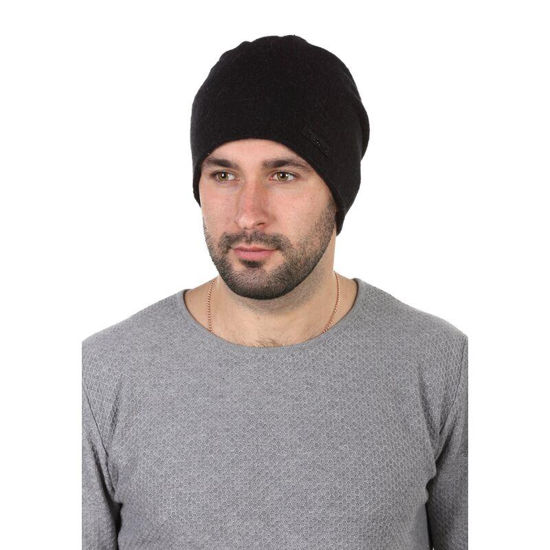 Шапка мужская шерстяная чернаяфото
