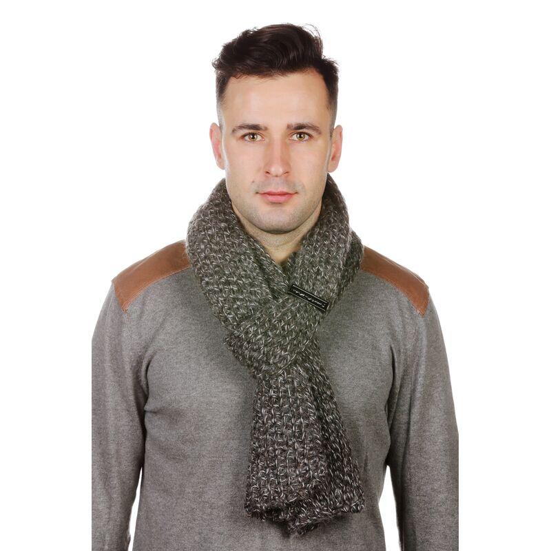 Шарф мужской трикотажный серыйфото