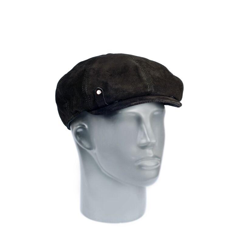 Мужская кепка-восьмиклинка из натуральной замшиизображение