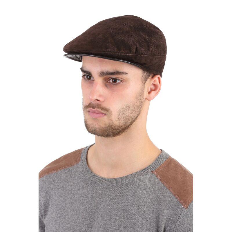 Кепка мужская из натуральной замши коричневаяизображение