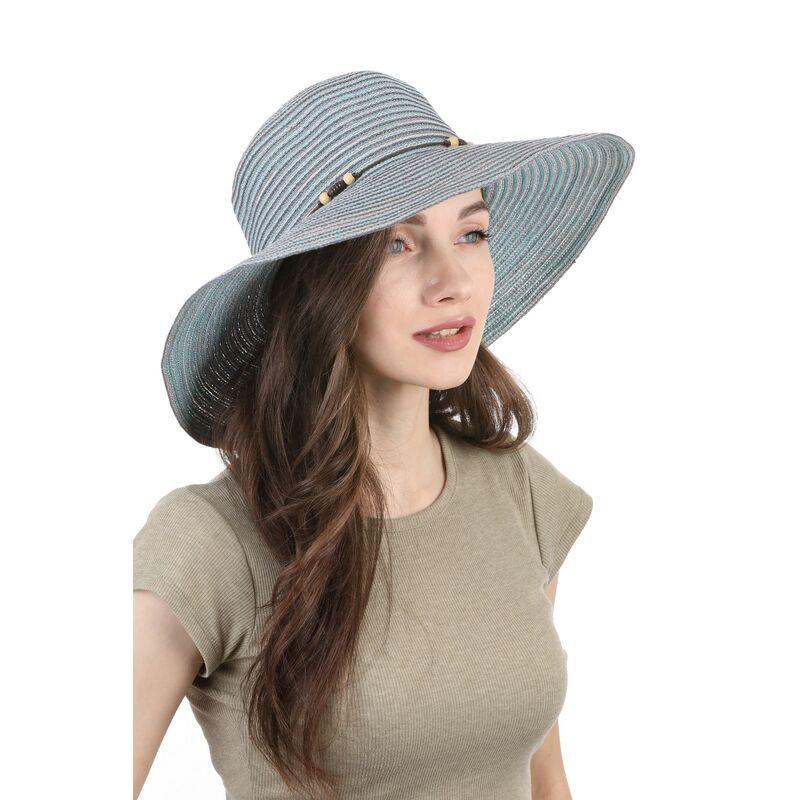 Шляпа летняя женская цвета морской волныфото