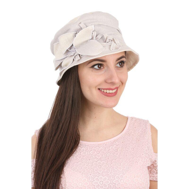 Шляпа тканевая дамская голубаяизображение