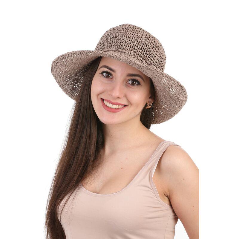 Шляпа плетеная коричневаяфото
