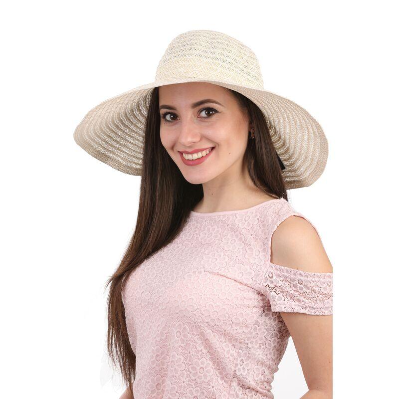 Легкая шляпа с большими полями молочнаяизображение