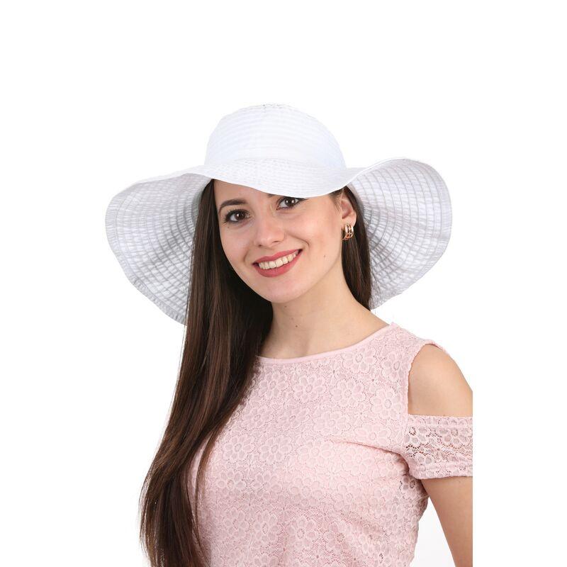 Шляпа летняя с большими полями белаяфото
