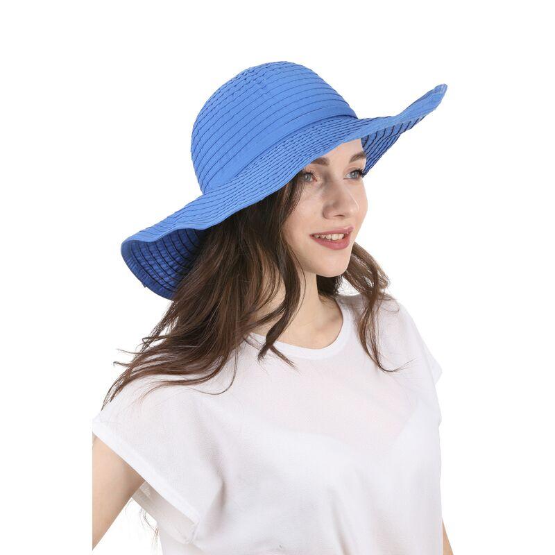 Шляпа летняя с большими полями синяяизображение