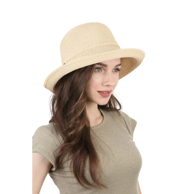 Шляпа летняя женская  светло-бежеваяфото