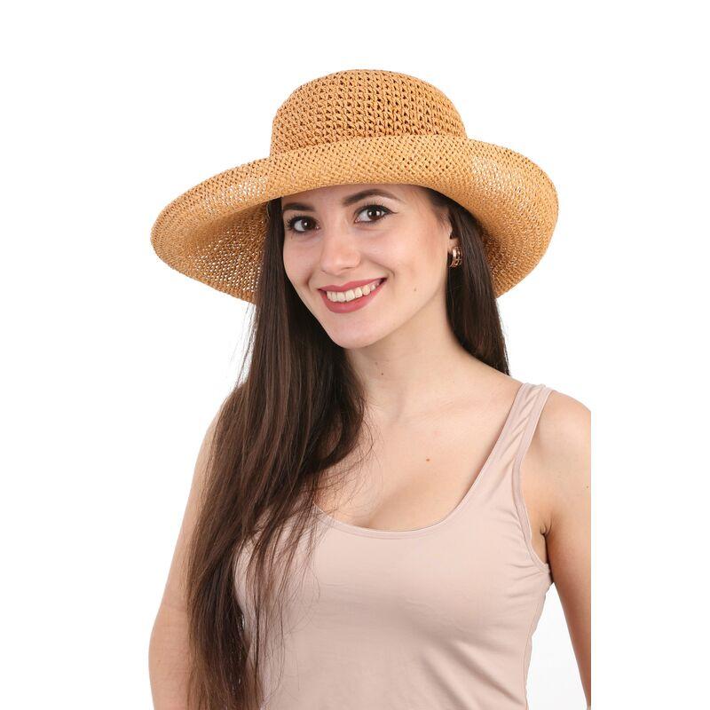 Шляпка плетеная бежеваяфото