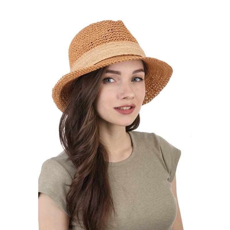 Шляпа плетенная « трилби»изображение