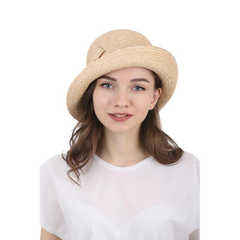 Шляпа из соломы женская асимметричная  фото