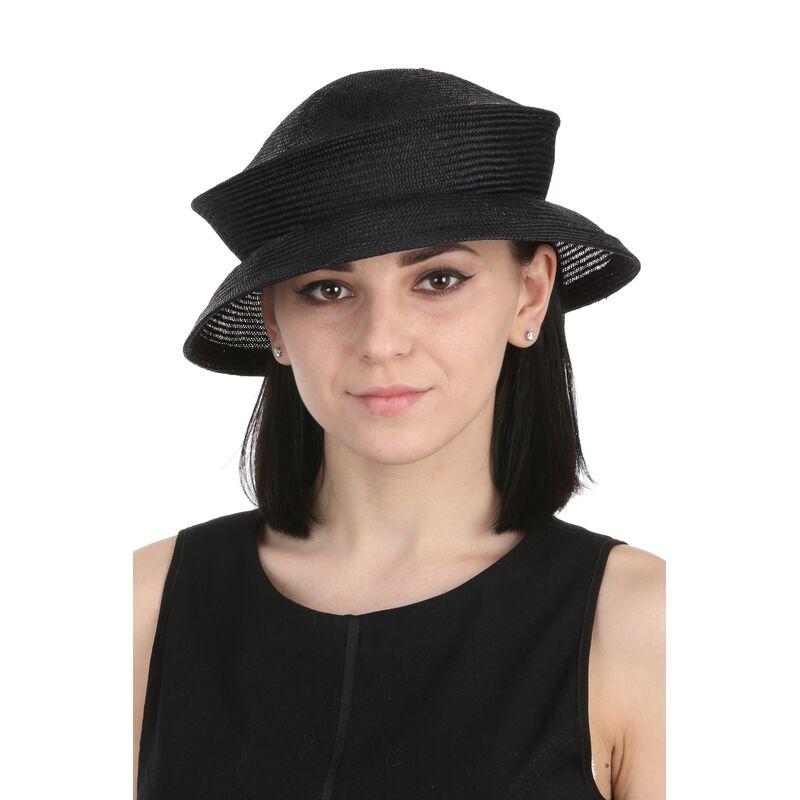 Шляпа вечерняя черная складывающаясяфото