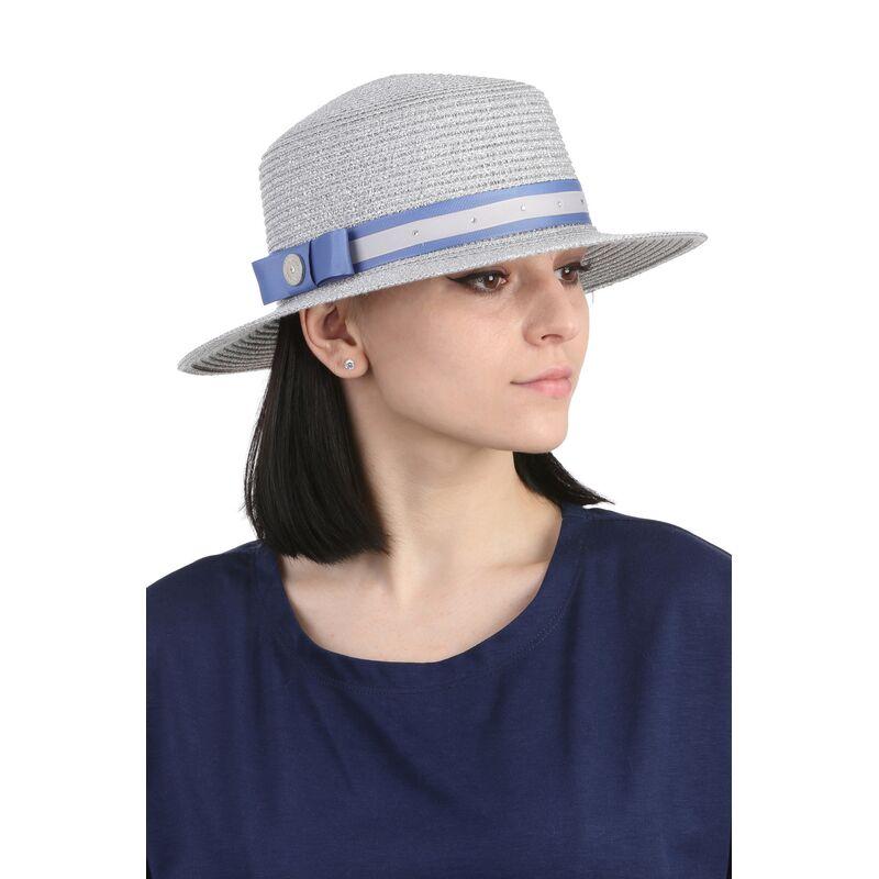 Шляпа канотье сереброизображение