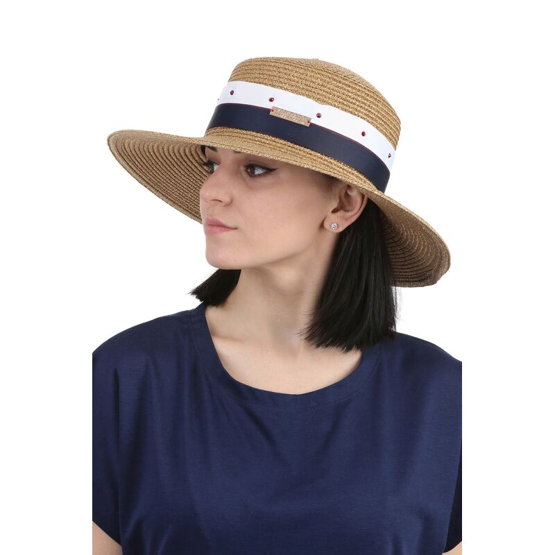 Шляпа канотье золотофото