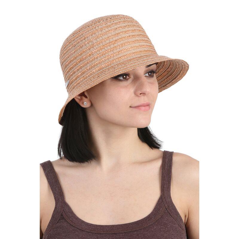 Шляпа коричневая с маленькими полямиизображение