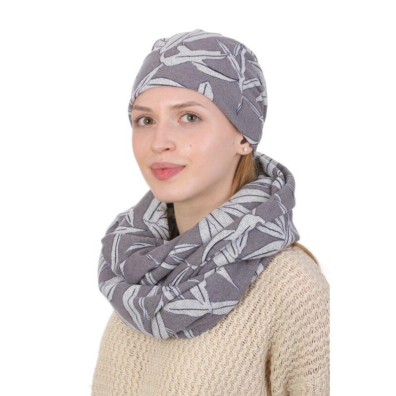 Комплект трикотажный серый с рисункомфото