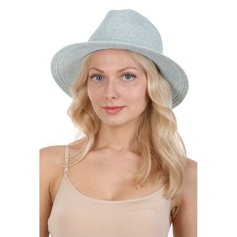 Шляпа мягкая федора голубаяфото