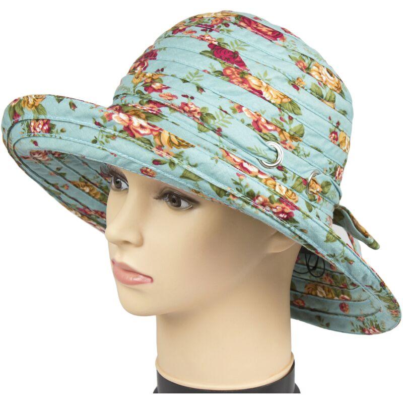 Шляпа тканевая голубаяфото