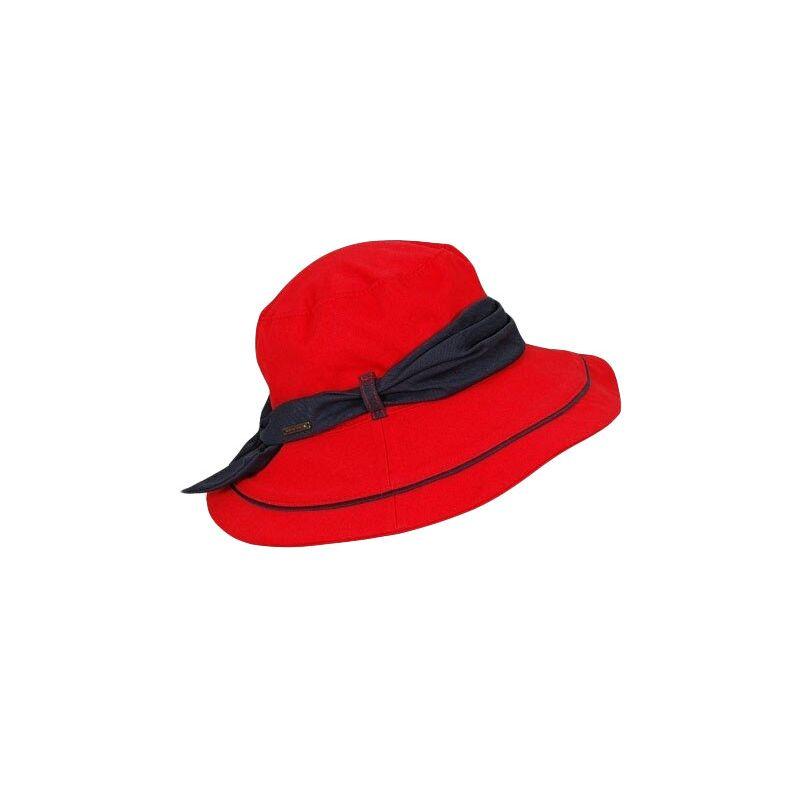 Панама красная с синей лентойизображение