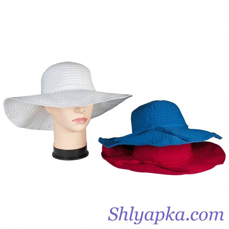 Шляпа летняя с большими полямифото