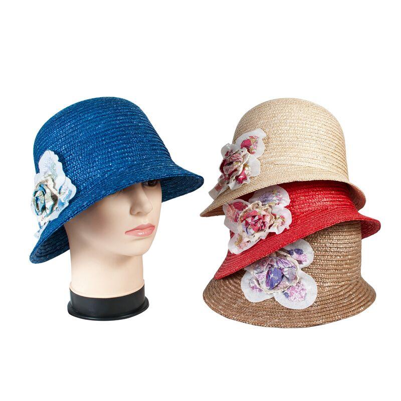 Шляпа соломенная с маленькими полямиизображение