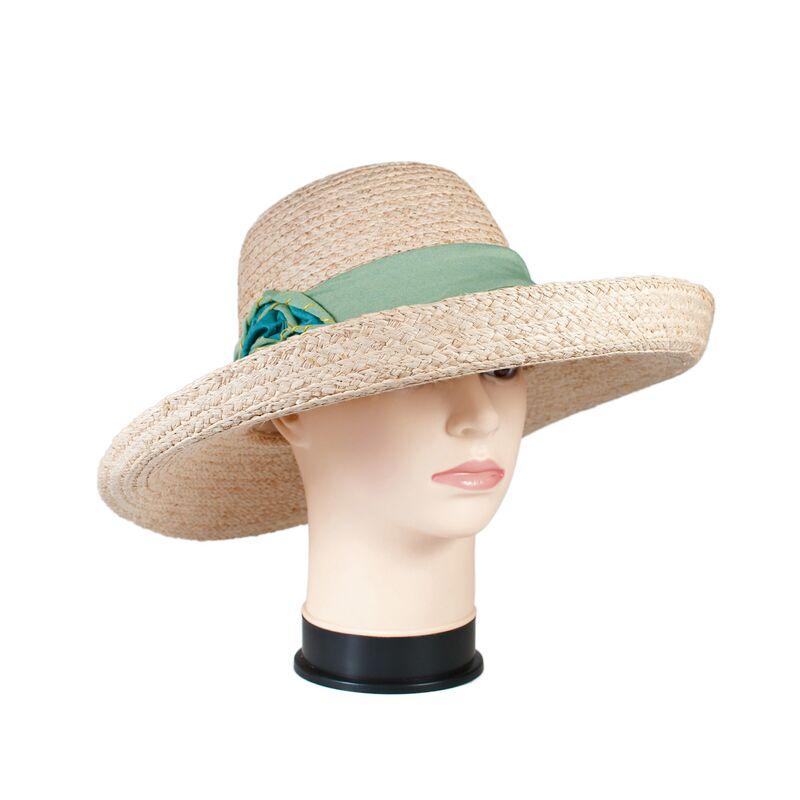 Шляпа соломенная с дизайнерским украшениемфото