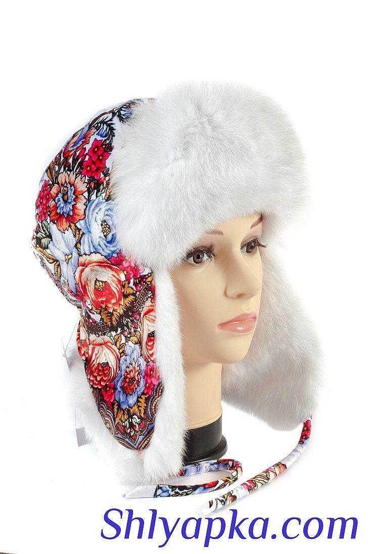 Женcкая шапка с мехом кролика изображение